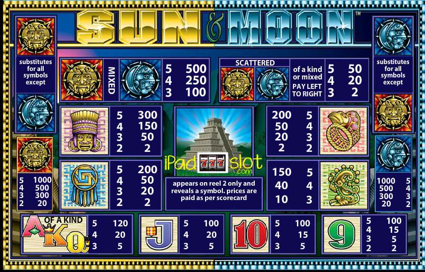 Sun & Moon Free or Real Play Slots App